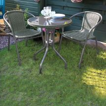 Green Bistro Set Garden Furniture Patio Summer Outdoor