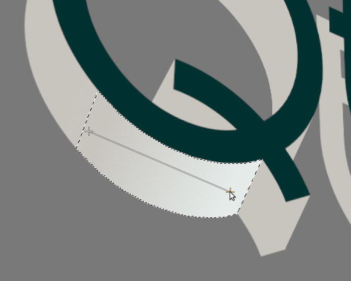 Creación de texto en 3D en GIMP. Crear degradado en áreas de la imagen