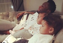 Mikel Obi and daughters