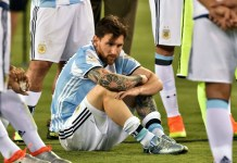 Lionel Messi after Argetina lost Copa America 2016 to Chile