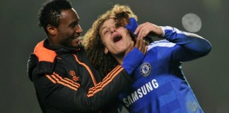 Mikel Obi and David Luiz