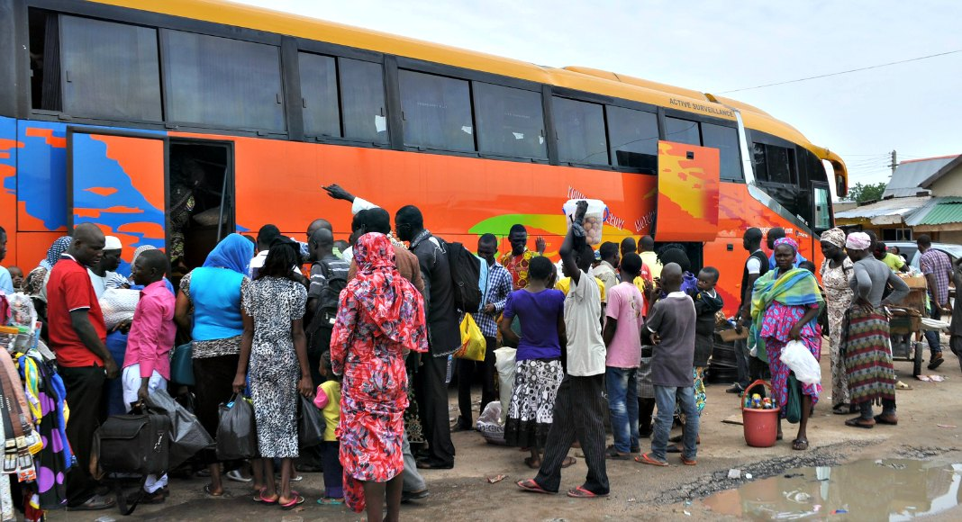 Image result for image of bus travellers in lagos