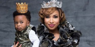Tonto Dikeh and son Andre