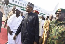 Muhammadu Buhari arrives Kaduna airport from London