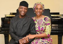Yemi Osinbajo and wife Dolapo Osinbajo