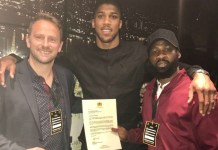 Anthony Joshua receives Ooni congratulatory letter
