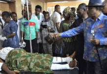 Governor Willie Obiano visits victims of Ozubulu shooting in hospital