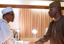 Muhammadu Buhari and Boss Mustapha