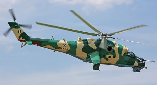 NAF Nigerian Air Force helicopter