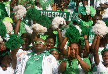Nigerian supporters Super Eagles fans