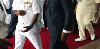 Tony Attah MD CEO Nigeria LNG and Vice Admiral Ibok Ibas Chief of Naval Staff