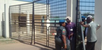 Police at national assembly