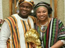 Yahaya-Bello and wife