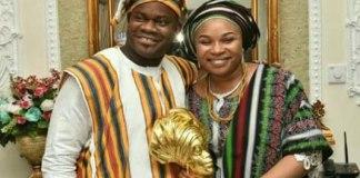 Yahaya-Bello and wife