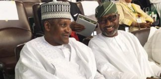 Femi Otedola and Aliko Dangote