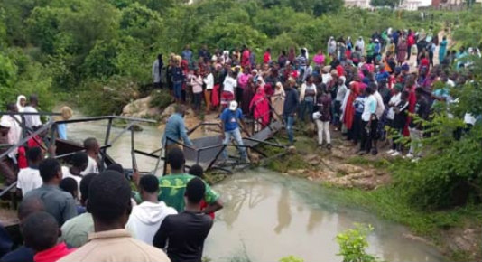 Image result wey dey for bauchi bridge collapse