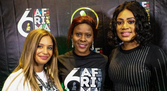 Zineb Seyad Adenrele Niyi AND Pamela Embelle Happi at AFRIMA press conference