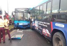 BRT buses collide in Lagos