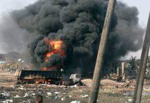 NNPC pipeline explosion in Lagos