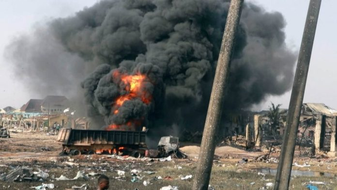 NNPC pipeline explosion in Lagos