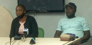 Evans sister Ndubisi Obiechina and husband Okwuchukwu Obiechina