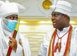 Emir of Kano Alhaji Aminu Ado Bayero and Ooni of Ife Oba Adeyeye Ogunwusi
