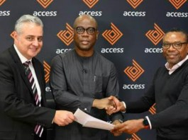 Access Bank CEO Herbert Wigwe and Grobank South Africa CEO