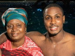 Odion Ighalo and mother Martina