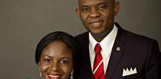 Tony Elumelu and wife Awele Elumelu