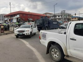 Lagos police show of force for #EndSARS