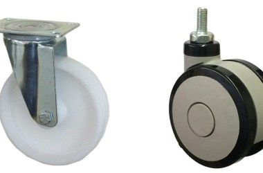 types of castors and How to fit them