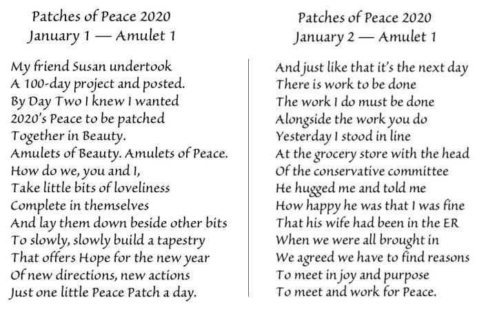 Patches of Peace 2020 © Ann Keeler Evans