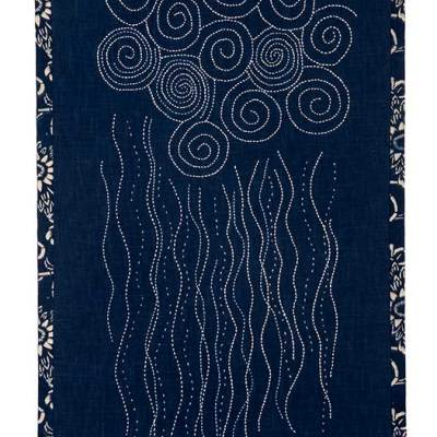One Thing Leads to Another: Sashiko Ocean Mist © Susan Ball Faeder