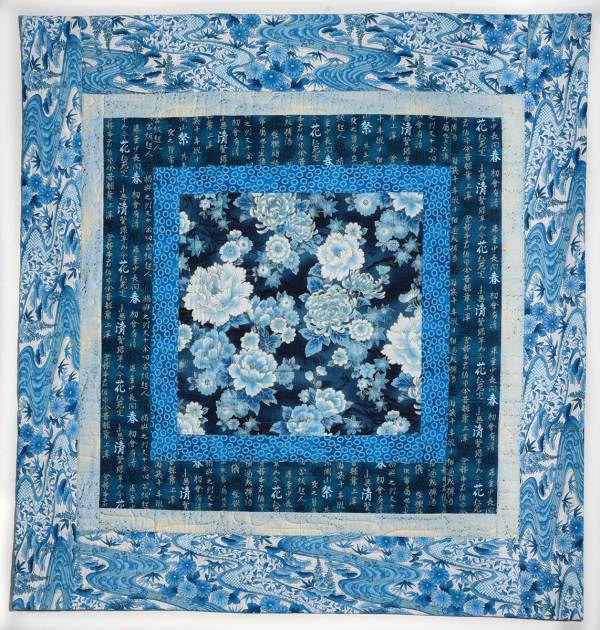 Blue and White Showcase Quilt © Susan Ball Faeder