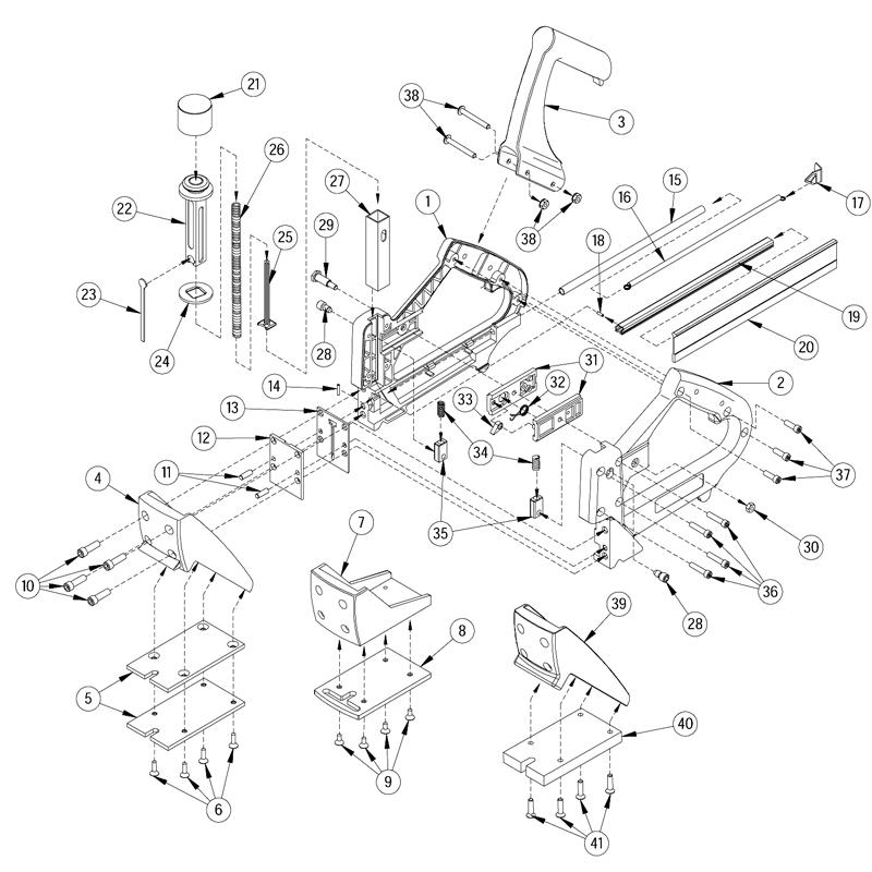 Porta-Nails 402 16GA Manual Flooring Nailer Parts