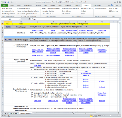 small resolution of qetools excel add in dmaic tool roadmap