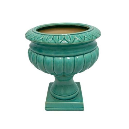 Vaso Cerâmica Azul Tiffany W350-43