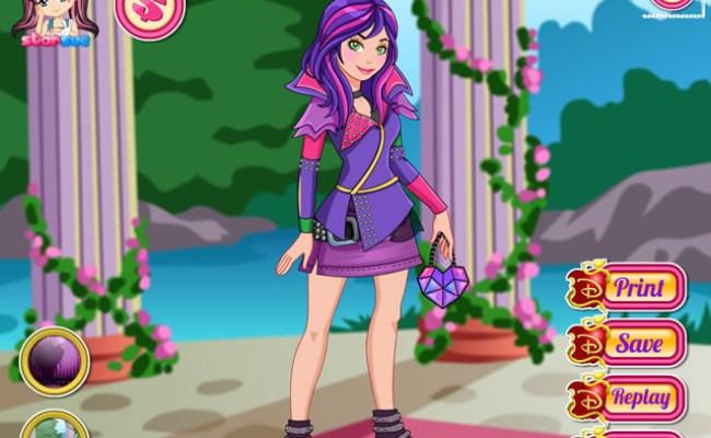 Play Disney Descendants Mal Dress Up Free Online Games