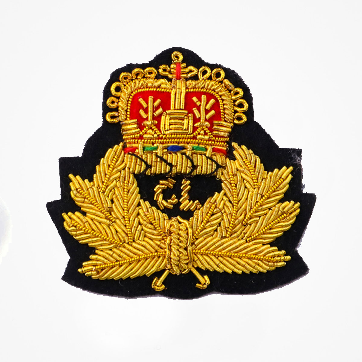 CL Gold Bullion Wire Embroidered Small Sew-on Applique Patch Badges - Fashionable 3D embroidered look Made by skilled artisans Bullion wire and silk thread hand Stitched on Black color Felt Available in gold and silver colors Size = 2 inches sew-on backing: Perfect for caps, sports jacket, leather jackets, blazer coat, Blazer Pocket, shirts uniforms, Accessories and many More Pin backing: easy to removable 4