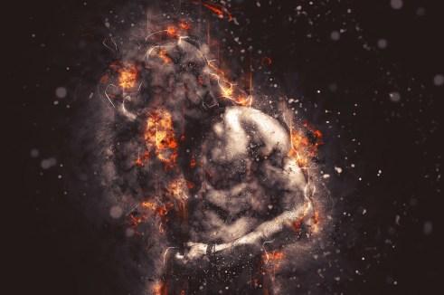 Emoțiile negative amplificate de implantul extraterestru întunecă aura bărbatului, îl descentrează și dezechilibrează.
