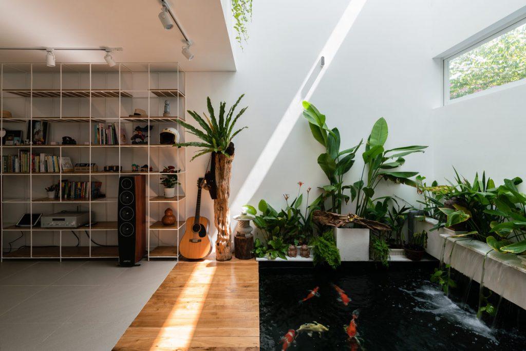 Cara membuat kolam ikan koi desain minimalis di depan ...