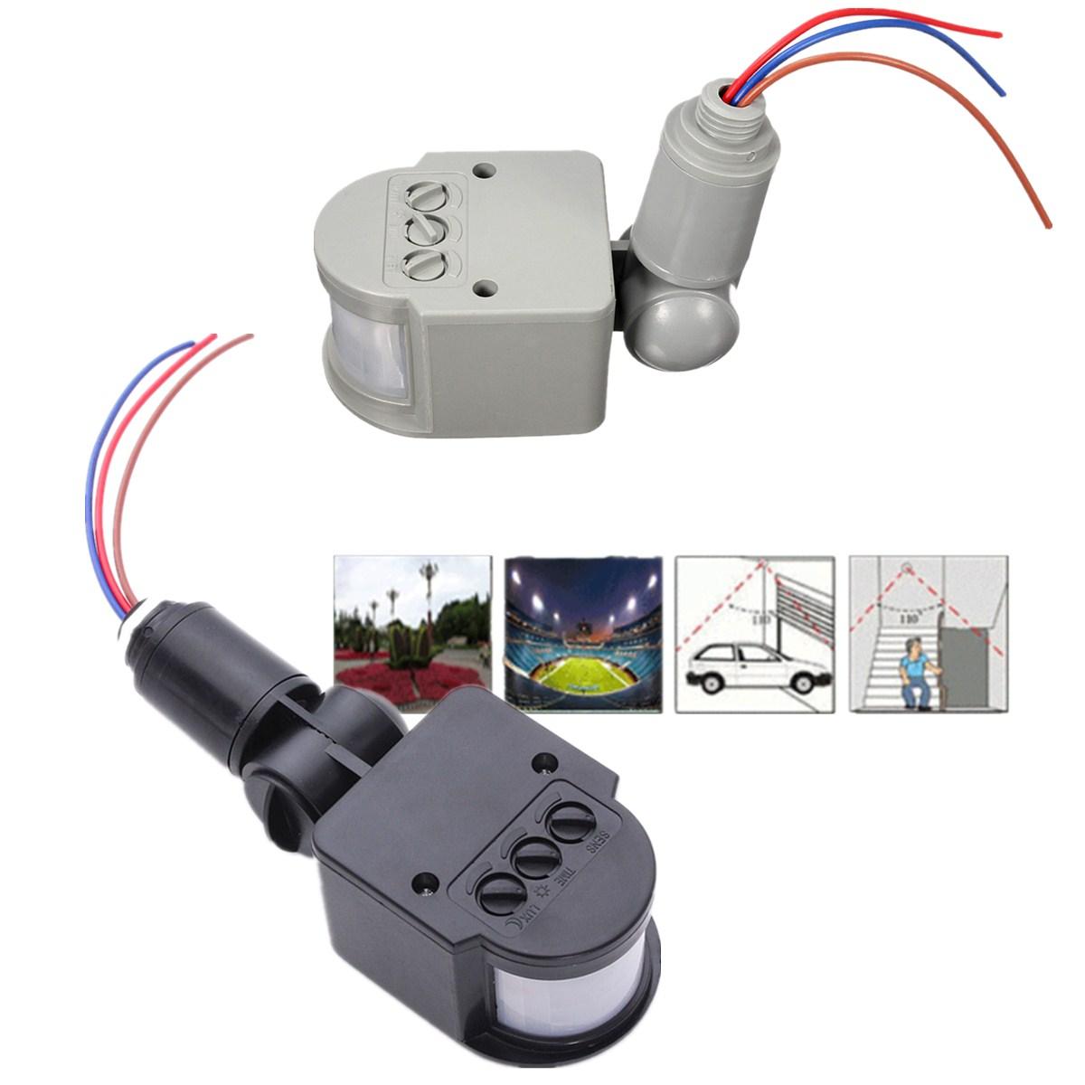 outside light pir wiring diagram guitar 1 humbucker 2 single coil 110v 240v led outdoor infrared motion sensor detector