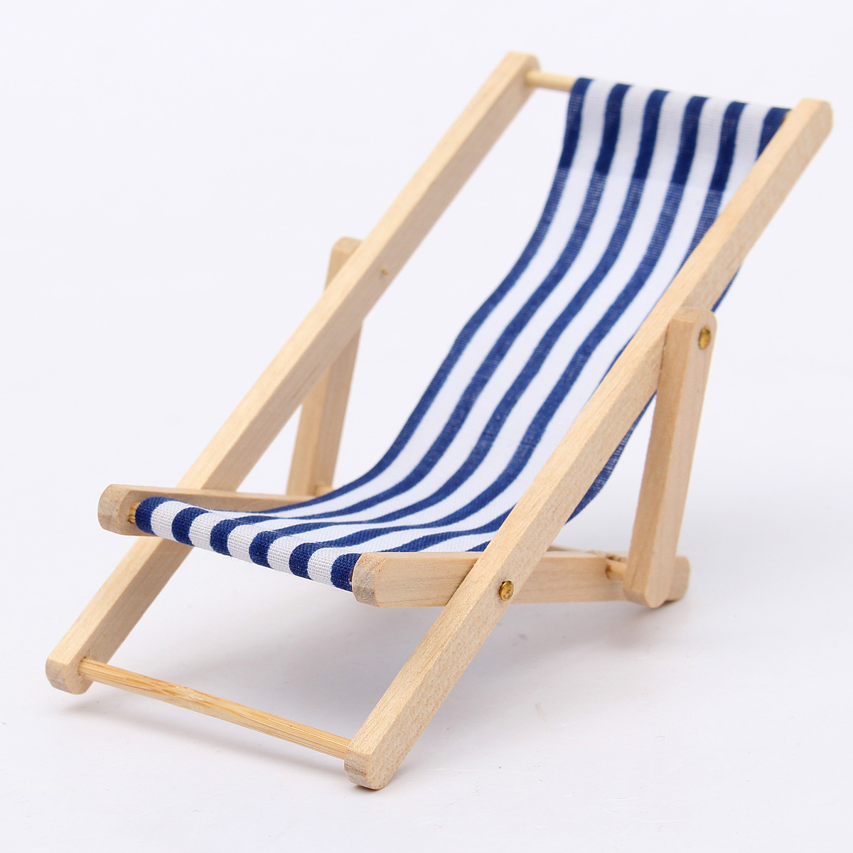 mini beach chair picture frames blue dining new diy dolls house 1 12 miniature foldable wooden