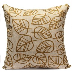 Feather Sofa Cushions Large Throw Slipcover Leaves Linen Cotton Cushion Cover Pillow