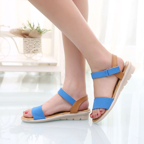 Women-Ankle-Strap-Flat-Sandals-Low-Heel-Open-Toe-Wedges-Platforms-Shoes-Casual
