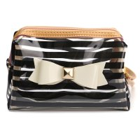 Stripe Transparent Travel PVC BOW TIE Cosmetic Make UP ...