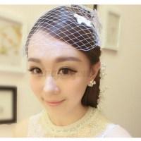 Birdcage Hair Net Face Veil Headdress Wedding Bridal Party