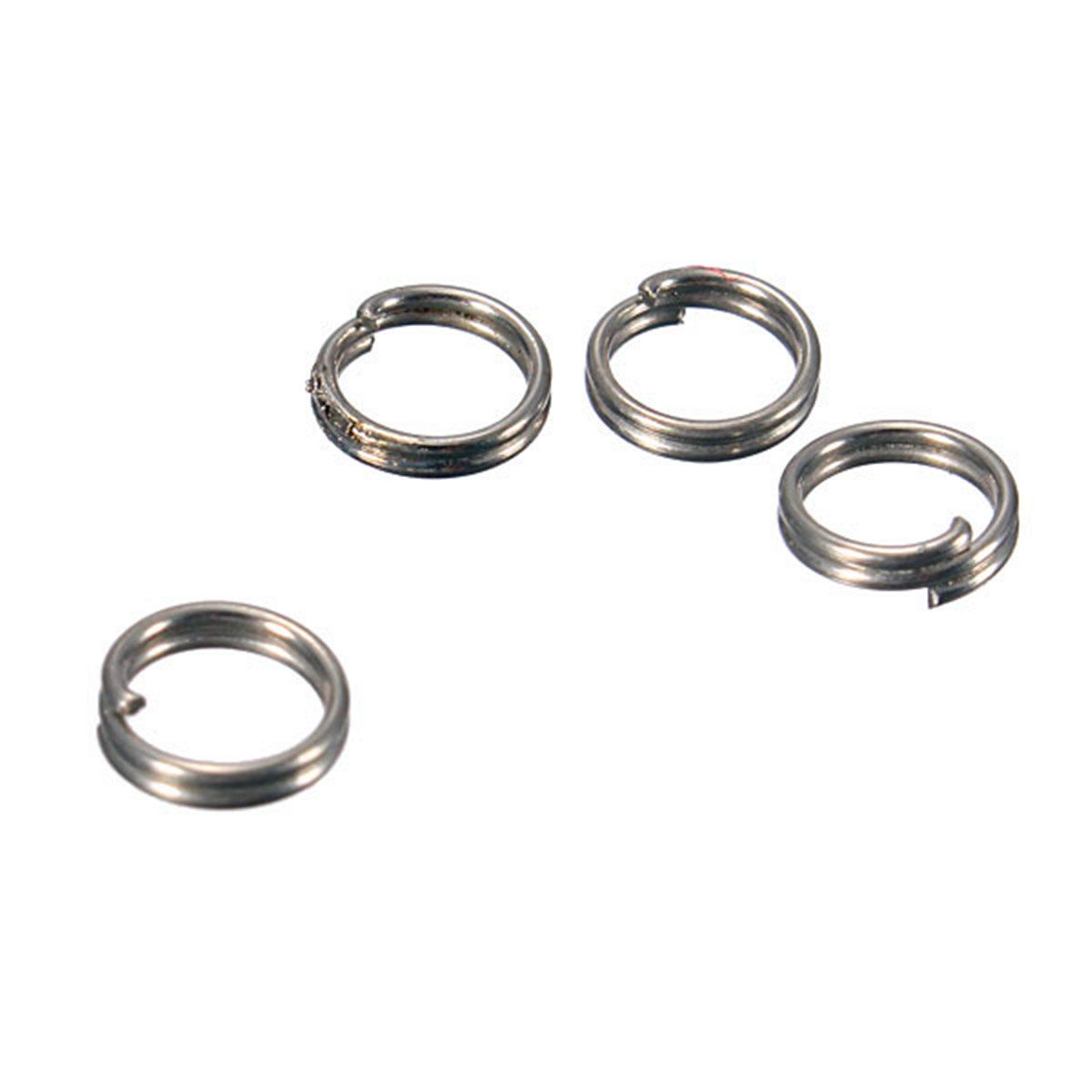 50Pcs Fish Fishing Solid Stainless Steel Snap Split Ring