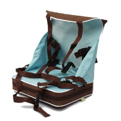 Booster Seat Straps To Chair Church Chairs Portable Baby Travel High Foldable