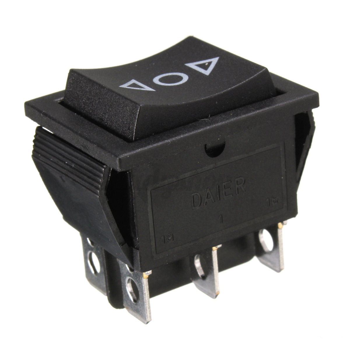 Black Dpdt Double Pole Double Throw Rocker Switch
